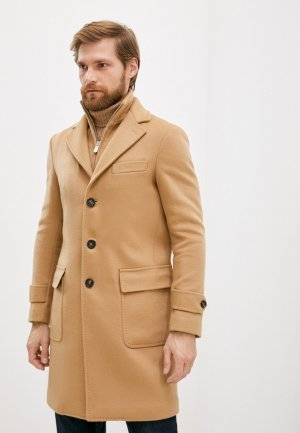 Пальто Eleventy. Цвет: бежевый