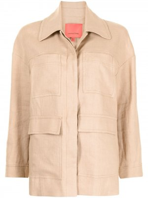 Куртка-рубашка оверсайз Manning Cartell. Цвет: коричневый