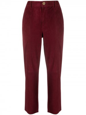 Прямые брюки с завышенной талией Forte. Цвет: красный