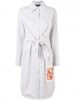 Платье-рубашка Paige в полоску Markus Lupfer. Цвет: коричневый
