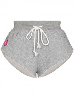 Спортивные шорты с нашивкой Natasha Zinko. Цвет: серый