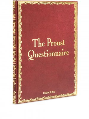 Книга  Proust Questionnaire Assouline. Цвет: красный