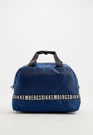 Сумка дорожная Bikkembergs. Цвет: синий