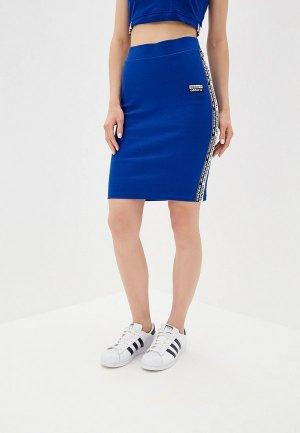 Юбка adidas Originals. Цвет: синий