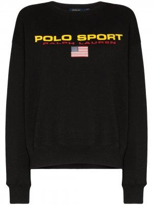 Толстовка с логотипом Polo Ralph Lauren. Цвет: черный