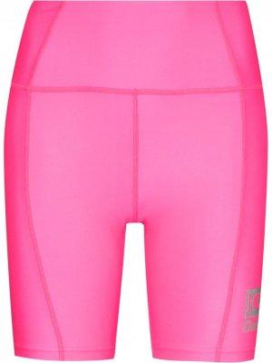 Облегающие шорты с логотипом Danielle Guizio. Цвет: розовый