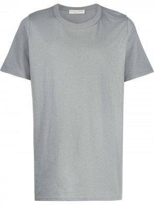 Однотонная футболка Bottega Veneta. Цвет: серый