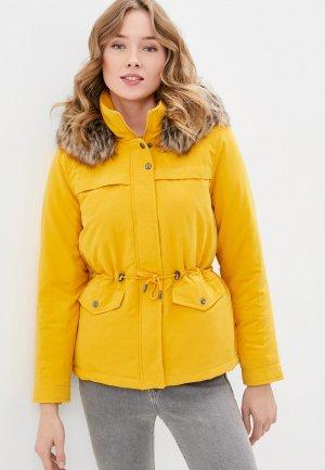 Куртка утепленная Only. Цвет: желтый
