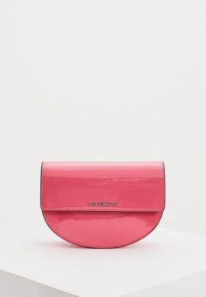 Сумка поясная Coccinelle. Цвет: розовый
