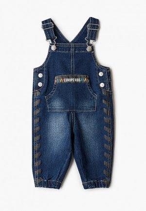 Комбинезон джинсовый United Colors of Benetton. Цвет: синий