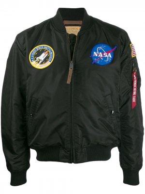 Куртка-бомбер NASA Alpha Industries. Цвет: черный
