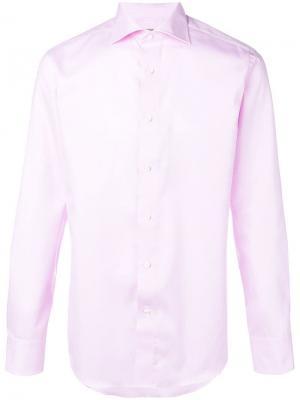 Классическая приталенная рубашка Canali. Цвет: розовый
