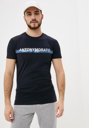 Футболка Antony Morato. Цвет: синий