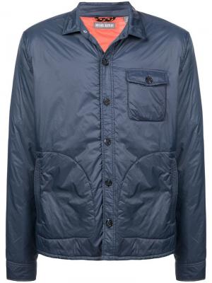 Дутая куртка-рубашка Michael Bastian. Цвет: синий