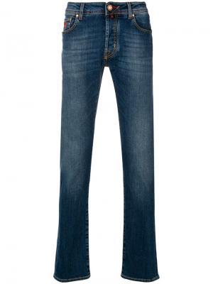 Faded straight leg jeans Jacob Cohen. Цвет: синий