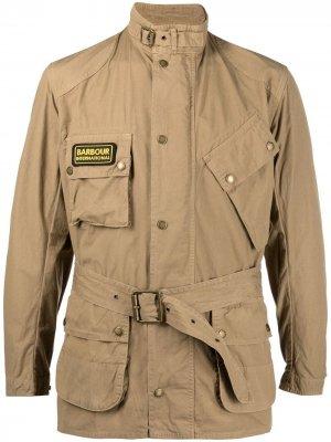 Куртка International с поясом Barbour. Цвет: нейтральные цвета