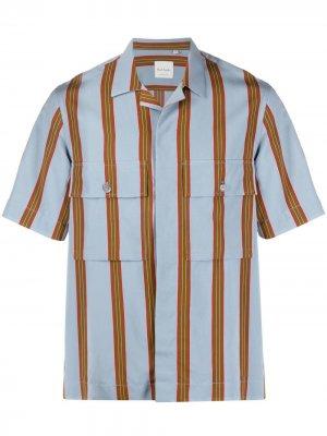Полосатая рубашка с короткими рукавами PAUL SMITH. Цвет: синий