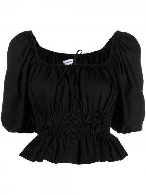 Блузка Venetia со сборками Faithfull the Brand. Цвет: черный
