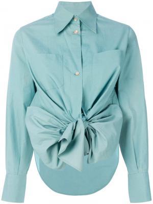 Рубашка с асимметричным краем Jean Paul Gaultier Vintage. Цвет: зеленый
