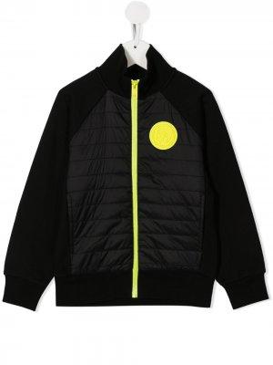 Куртка с контрастным логотипом Diesel Kids. Цвет: черный
