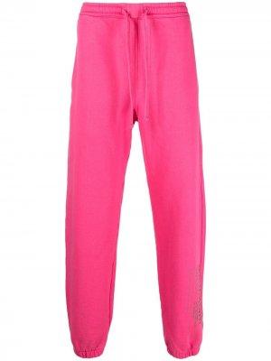 Прямые брюки из органического хлопка Maharishi. Цвет: розовый