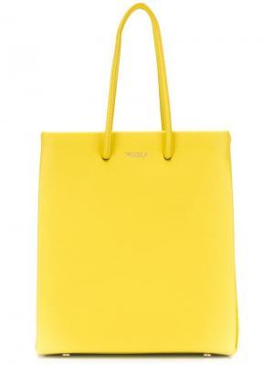 Сумка-шоппер с логотипом Medea. Цвет: желтый