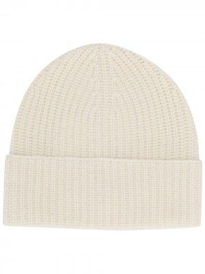 Кашемировая шапка бини Agnona. Цвет: белый