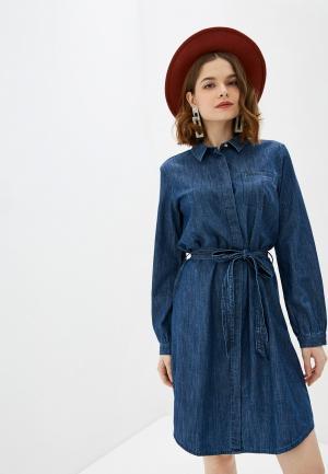 Платье джинсовое Tom Tailor. Цвет: синий