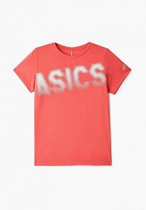 Футболка ASICS. Цвет: коралловый