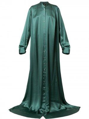 Длинное платье на пуговицах Ann Demeulemeester. Цвет: зеленый
