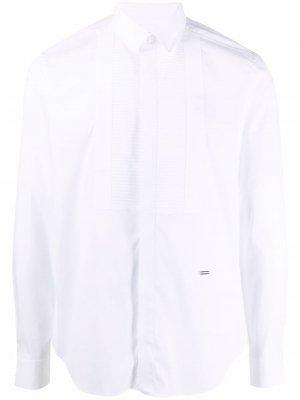 Рубашка со вставками и длинными рукавами Les Hommes. Цвет: белый