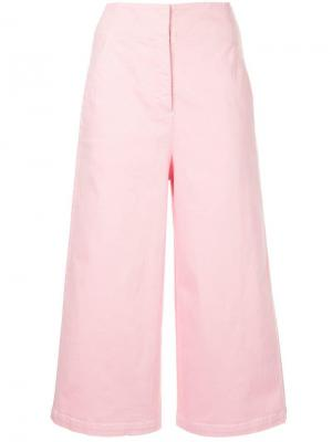 Укороченные джинсы с завышенной талией Tibi. Цвет: розовый