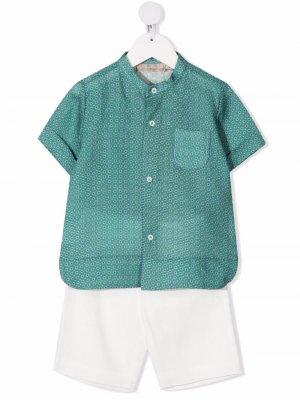 Комплект из рубашки и шортов La Stupenderia. Цвет: зеленый