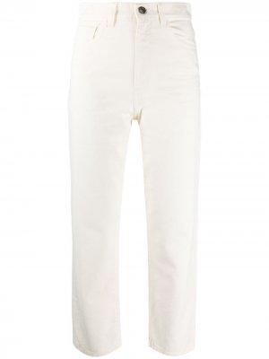 Укороченные джинсы с завышенной талией Twin-Set. Цвет: белый