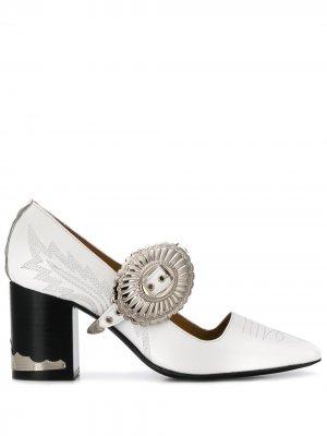 Туфли Мэри Джейн с пряжками Toga Pulla. Цвет: белый