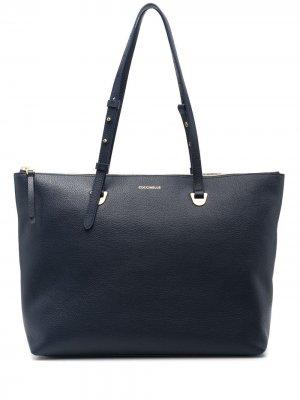 Объемная сумка-тоут Lea Coccinelle. Цвет: синий