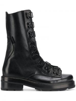 Chunky zip ankle boots Olivier Theyskens. Цвет: черный