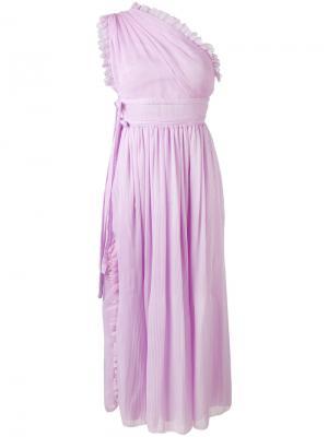 Платье на одно плечо Rochas. Цвет: розовый