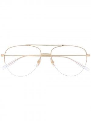 Очки-авиаторы Montblanc. Цвет: золотистый
