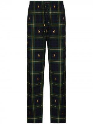 Пижамные брюки в клетку Polo Ralph Lauren. Цвет: зеленый