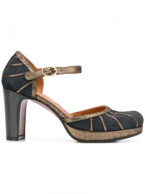 Туфли-лодочки с ремешком на щиколотке Capi Chie Mihara. Цвет: серый