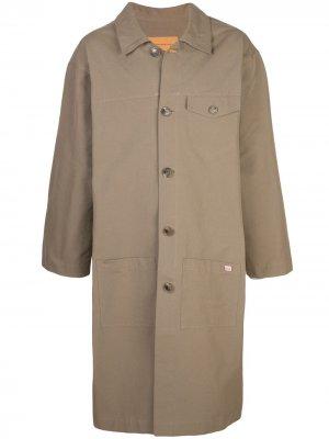 Куртка-дождевик с капюшоном Martine Rose. Цвет: коричневый
