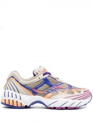 Кроссовки в стиле колор-блок Saucony. Цвет: нейтральные цвета