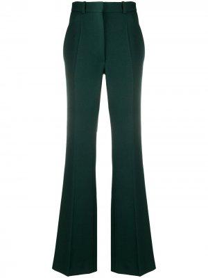Расклешенные брюки с завышенной талией Victoria Beckham. Цвет: зеленый