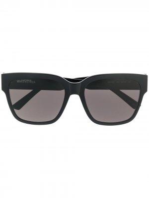 Солнцезащитные очки Paris в квадратной оправе Balenciaga Eyewear. Цвет: черный