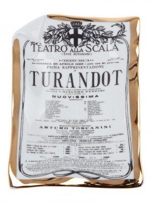 Пепельница Turandot Fornasetti. Цвет: белый
