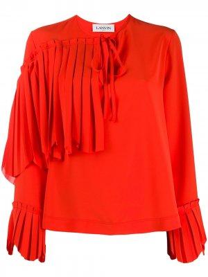 Блузка с оборками LANVIN. Цвет: оранжевый