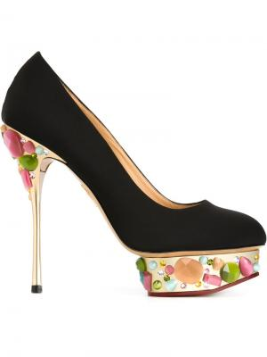 Декорированные туфли Dolly Charlotte Olympia. Цвет: черный