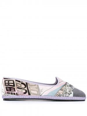 Слиперы с принтом и закругленным носком Emilio Pucci. Цвет: фиолетовый