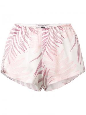 Короткие пижамные шорты свободного кроя Gilda & Pearl. Цвет: розовый
